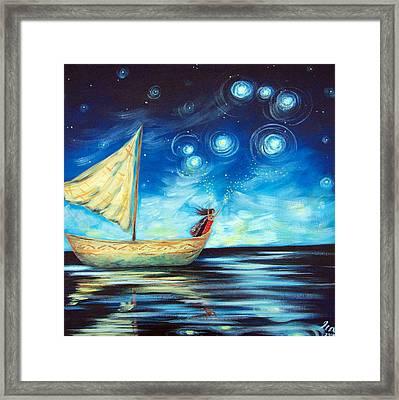 Sprinkling Stars At Matariki  Framed Print