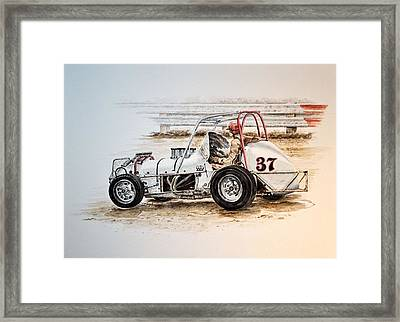 Sprint N Dirt Framed Print