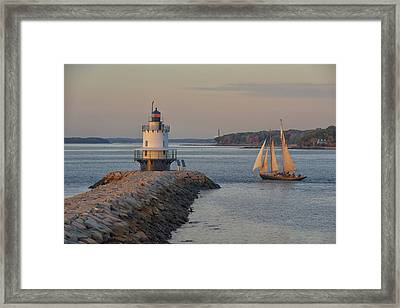 Sprint Point Ledge Sails Framed Print