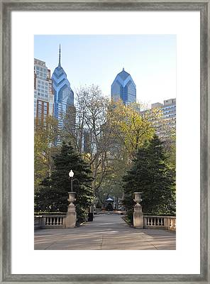 Sprintime At Rittenhouse Square Framed Print by Bill Cannon