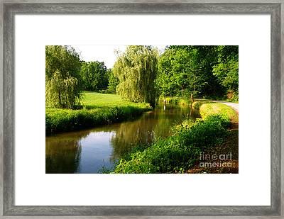 Spruce Creek Great Fishing In Pa 6 Framed Print by Heinz G Mielke