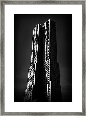 Framed Print featuring the photograph Spruce Street By Gehry by Jessica Jenney