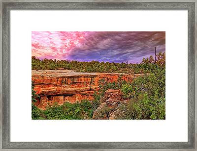 Framed Print featuring the photograph Spruce Tree House At Mesa Verde National Park - Colorado by Jason Politte