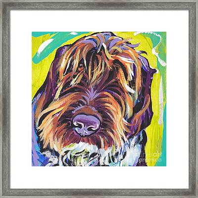 Spumoni Spinone Framed Print by Lea S