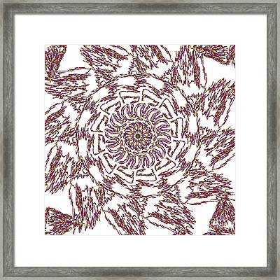 Spun Floral Red 3 Framed Print by Catherine Lott