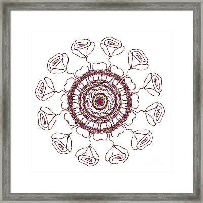 Spun Roses Red 1 Framed Print by Catherine Lott