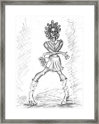 Spunky Funky  Framed Print