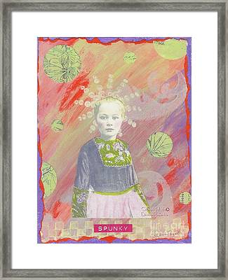 Framed Print featuring the mixed media Spunky Got Funky by Desiree Paquette
