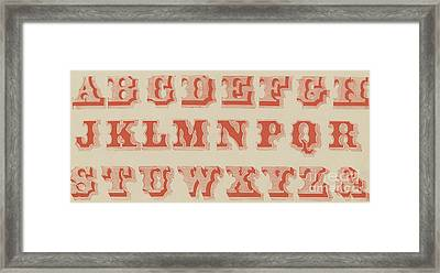 Spurred Letter Framed Print by English School