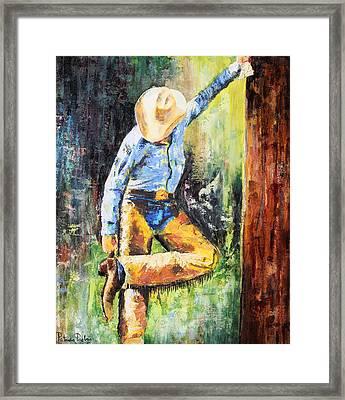 Spurred Framed Print by Patricia Pasbrig