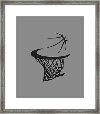 Spurs Basketball Hoop Framed Print