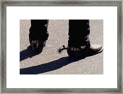 Framed Print featuring the photograph Spurs by DiDi Higginbotham