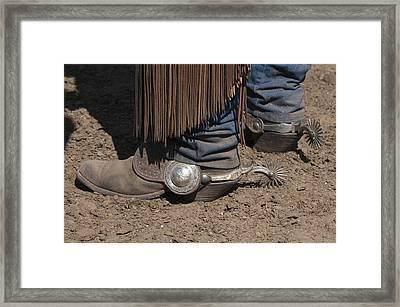 Spurs N' Rowels Framed Print by Sandra Bronstein
