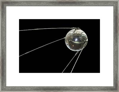 Sputnik, The First Satellite Placed Framed Print by Mark Thiessen