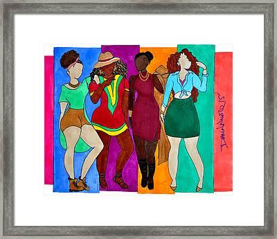 Squad Framed Print by Diamin Nicole