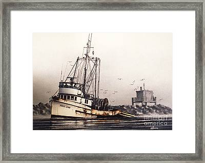 Squalicum Harbor Framed Print by James Williamson