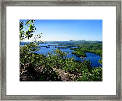 Squam Lake Framed Print