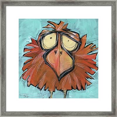Square Bird 24 Framed Print
