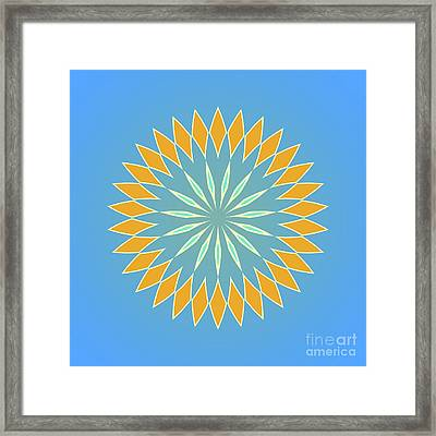 Square Blue And Orange Abstact Framed Print by Pablo Franchi