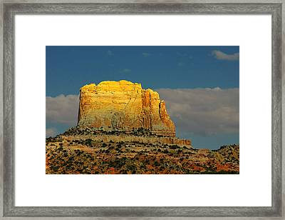 Square Butte - Navajo Nation Near Kaibeto Az Framed Print