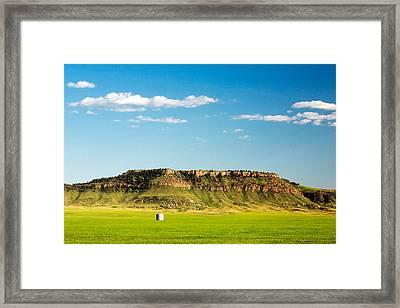 Square Butte Bin Framed Print by Todd Klassy