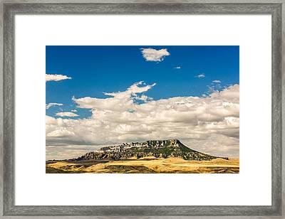 Square Butte Framed Print