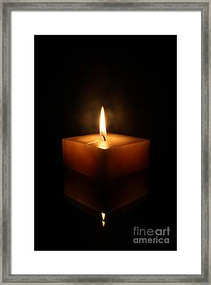Square Candle Framed Print