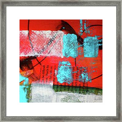Framed Print featuring the mixed media Square Collage No. 10 by Nancy Merkle