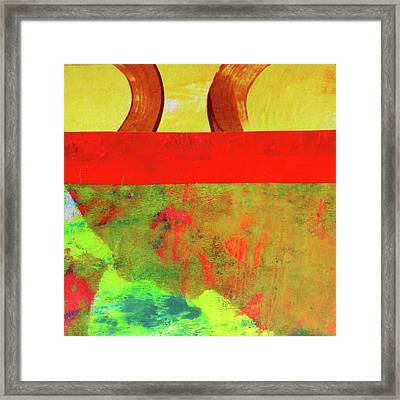 Framed Print featuring the mixed media Square Collage No. 11 by Nancy Merkle