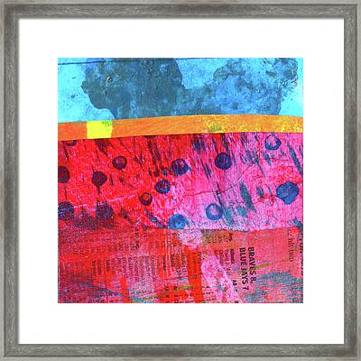 Square Collage No. 12 Framed Print by Nancy Merkle