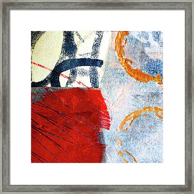 Framed Print featuring the painting Square Collage No. 3 by Nancy Merkle