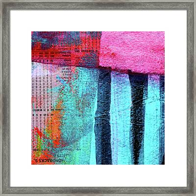 Square Collage No 4 Framed Print by Nancy Merkle
