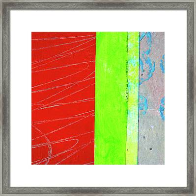 Framed Print featuring the painting Square Collage No. 5 by Nancy Merkle