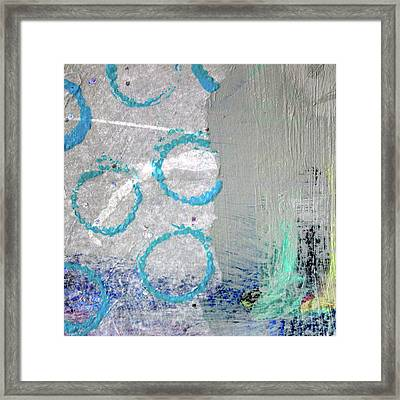 Framed Print featuring the painting Square Collage No. 6 by Nancy Merkle
