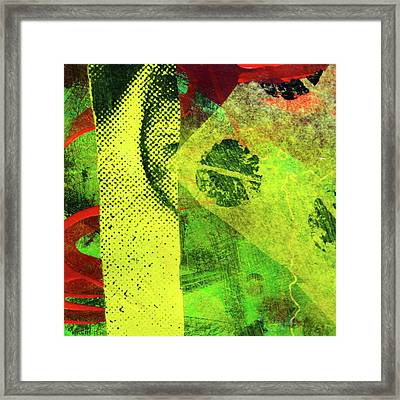 Framed Print featuring the mixed media Square Collage No. 8 by Nancy Merkle