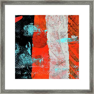 Framed Print featuring the mixed media Square Collage No. 9 by Nancy Merkle