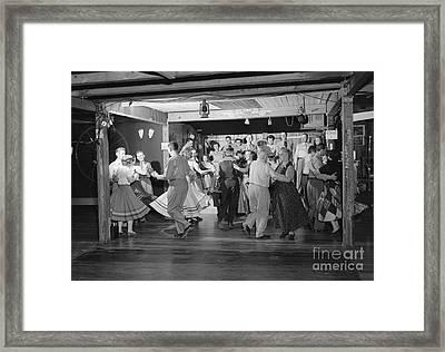 Square Dancing, C.1950s Framed Print