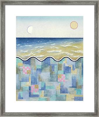 Square Fish And Sea Framed Print by Sally Appleby