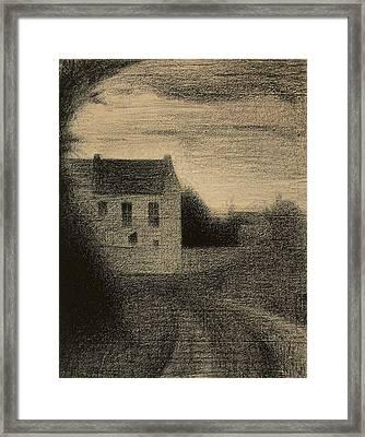 Square House Framed Print
