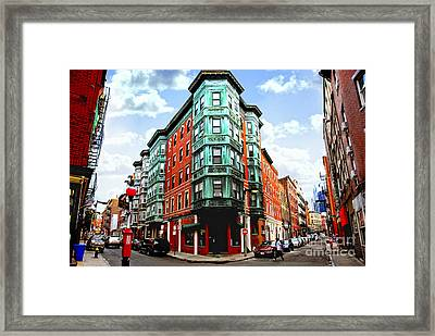 Square In Old Boston Framed Print