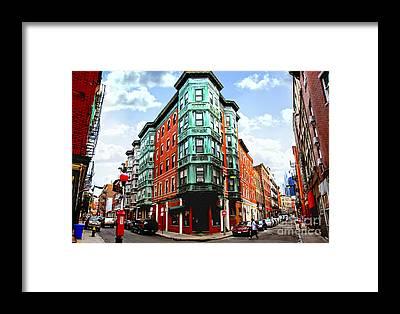 Boston North End Framed Prints