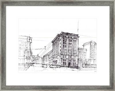 Square Of Constitution Sketch Framed Print