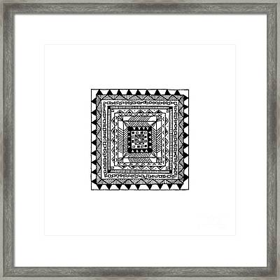 Square Pattern Framed Print