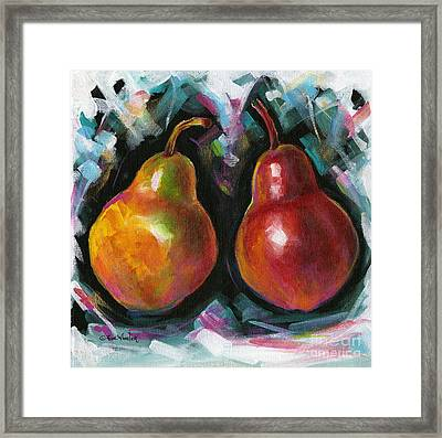 Square Pears Framed Print by Eve  Wheeler