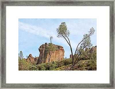 Framed Print featuring the photograph Square Rock Formation by Art Block Collections