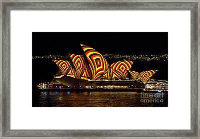 Square Sails - Sydney Opera House - Vivid Sydney Framed Print by Bryan Freeman