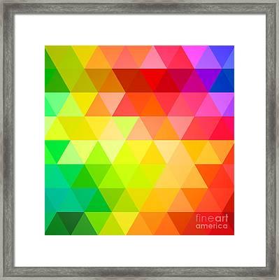 Square Spectrum Framed Print by Radu Bercan