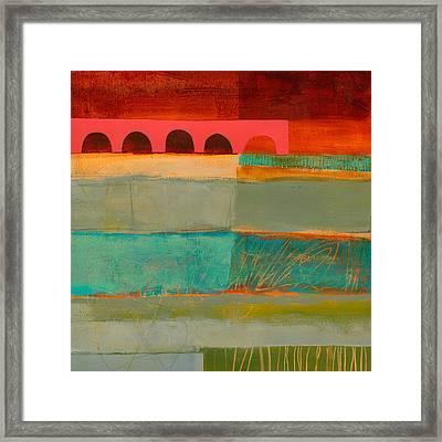 Square Stripes Framed Print by Jane Davies
