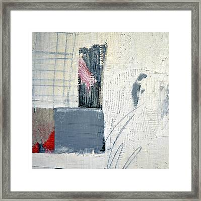 Framed Print featuring the painting Square Study Project 12 by Michelle Calkins