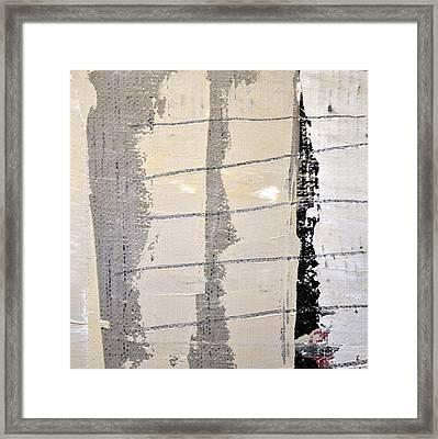 Framed Print featuring the painting Square Study Project 2 by Michelle Calkins
